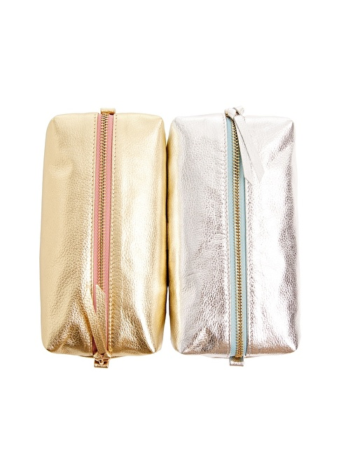 Leather & Paper Seyahat Çantası Gümüş
